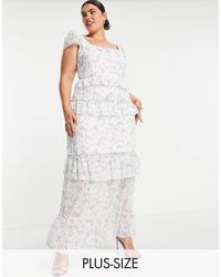 Missguided Frill Detail Maxi Dress - White