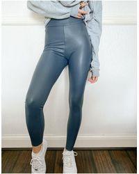 TOPSHOP Leather Look leggings - Green