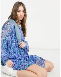 Vero Moda Smock Dress - Blue