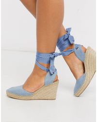 ASOS Time Espadrille Wedges - Blue