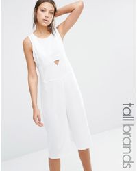 9dfbcf3269d Noisy May Tall - Nikita Culotte Jumpsuit - Bright White - Lyst