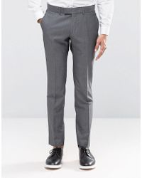 Ben Sherman Camden Super Skinny Charcoal Tonic Suit Pants - Gray