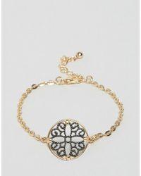 Nylon - Filgiree Disc Bracelet - Gold - Lyst