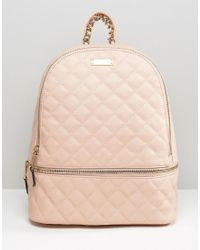 ALDO - Quilted Backpack In Blush - Red - Lyst