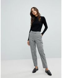 Warehouse - Mono Check Trousers - Lyst
