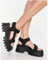 Pull&Bear - Chunky Strappy Sandals - Lyst
