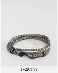 Seven London - Hook Bracelet In Gray Exclusive To Asos - Lyst