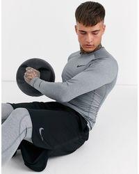 Nike - Серый Лонгслив Nike Pro Training - Lyst