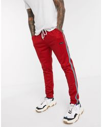 Good For Nothing Geo Hounds Pant With Satin Taping - Red
