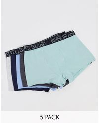 River Island 5 Pack Hipsters - Blue