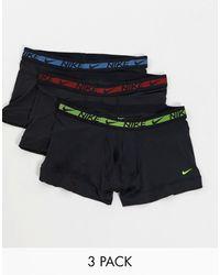 Nike Set Van 3 Flex-boxershorts Van Microvezel - Zwart