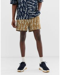 ASOS Co-ord Boxy Shorts In Abstract Print Heavy Crinkle Cotton - Multicolor