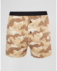 ASOS - Jersey Boxers With Camo Print - Lyst