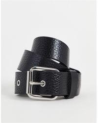 ASOS Cintura nera per jeans per vita e fianchi - Nero
