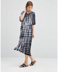 NYTT Tae Grid Tie Dye Dress - Black
