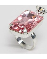 Krystal - Swarovski Rectangular Crystal Ring - Lyst