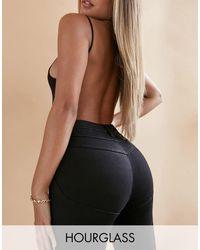 ASOS Hourglass - Jeans skinny push-up modellanti nero pulito