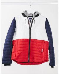 Superdry Спортивная Куртка В Стиле Колор Блок -многоцветный
