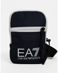 EA7 Armani - Train Core - Klein Crossbody Tasje Met Logo - Blauw