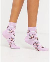 ASOS – Socken mit Amor-Design - Lila