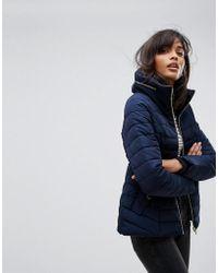 Oasis - Premium Drawstring Waist Padded Jacket - Lyst