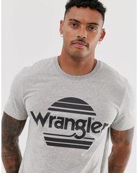 Wrangler Серая Футболка С Логотипом Sunset-серый
