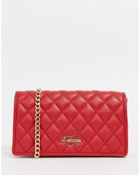 Love Moschino - Quilted Shoulder Bag With Gold Chain Strap - Lyst