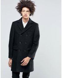 Féraud Gianni Premium Boiled Wool Overcoat - Black
