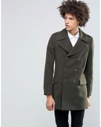 Féraud - Gianni Premium Italian Melton Wool Blend Military Coat - Lyst