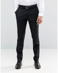 Féraud Gianni Heritage Premium Wool Plain Trousers - Black
