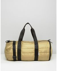 Converse - Quilted Metallic Duffle Bag - Gold - Lyst