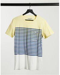 Jack & Jones T-shirt à rayures - effet dégradé - Jaune