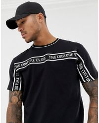 The Couture Club - T-shirt With Taping Logo - Lyst