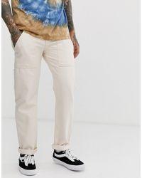 ASOS Original Fit Carpenter Jeans - White