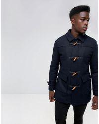 SELECTED - Wool Duffle Coat - Lyst