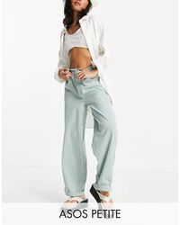 ASOS Asos Design Petite Slouchy Chino Trouser - Green