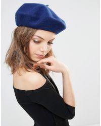 Pieces Beret Hat - Twilight Blue