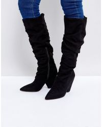 2f075e9ad16 ASOS Asos Racer Chunky Hiker Boots in Black - Lyst