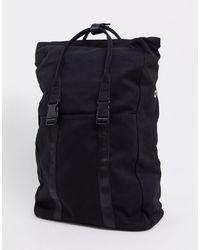 ASOS - Черный Парусиновый Рюкзак С Отделением Для Ноутбука - Lyst