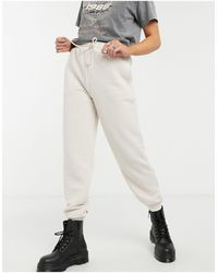 TOPSHOP Quilted joggers - White