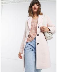 Vero Moda Розовое Пальто Классического Кроя -розовый