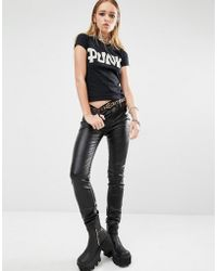 Tripp Nyc - Pvc Skinny Trousers - Black - Lyst