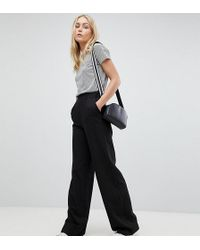 11da6c96b2 ASOS - Asos Design Tall Wide Leg Pants With Pleat Detail - Lyst