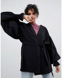 Monki - Balloon Sleeve Kimono Jacket - Lyst