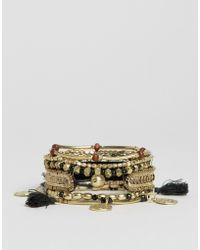 Pieces - Gaiane Multirow Bracelets - Lyst