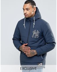 Majestic Filatures - Yankees Padded Overhead Jacket Exclusive To Asos - Lyst