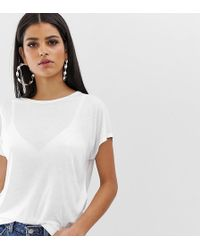 ASOS Asos Design Tall Formal Kimono T-shirt In White