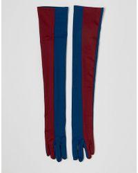 ASOS - Colourblocked Extra Long Glove - Lyst