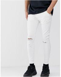SIKSILK Jean skinny - Blanc