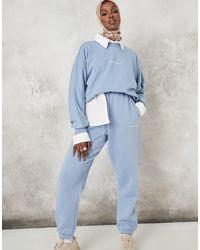 Missguided Голубые Oversized-джоггеры От Комплекта Mib-голубой - Пурпурный
